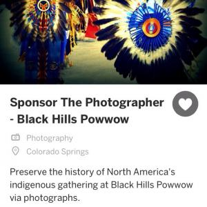 Sponsor The Photographer At The Black Hills Powwow